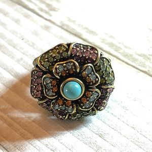 Heidi Daus multicolored flower ring